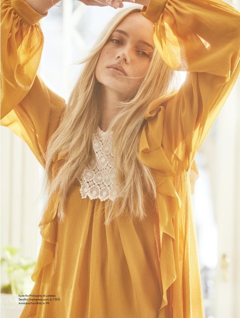Emma Ellingsen Models Boho Chic Looks for ELLE Norway