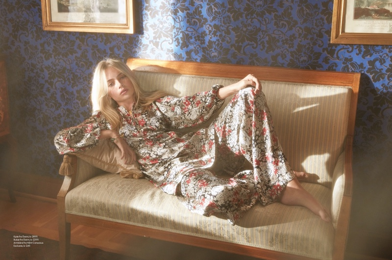 Emma Ellingsen Models Boho Chic Looks for ELLE Norway