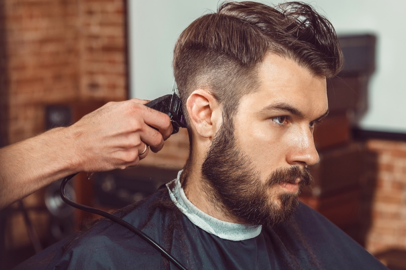 Faded Hairstyle Man Barber Shop