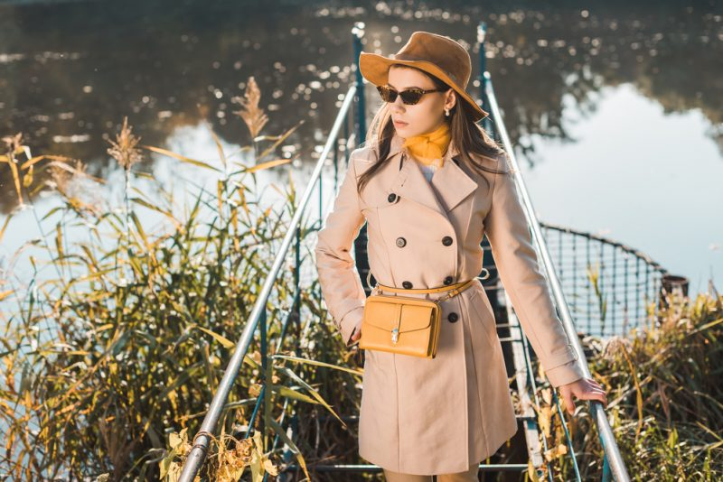 Fall Style Model Trench and Hat