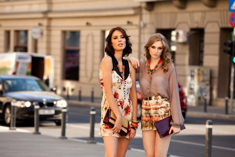 Fashion Models with Purses