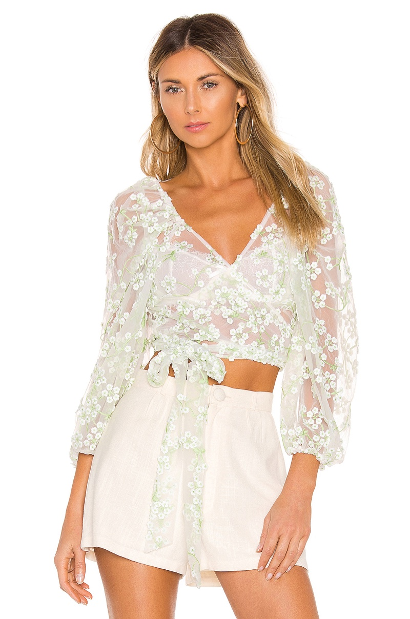 For Love & Lemons Eclair Crop Top $185