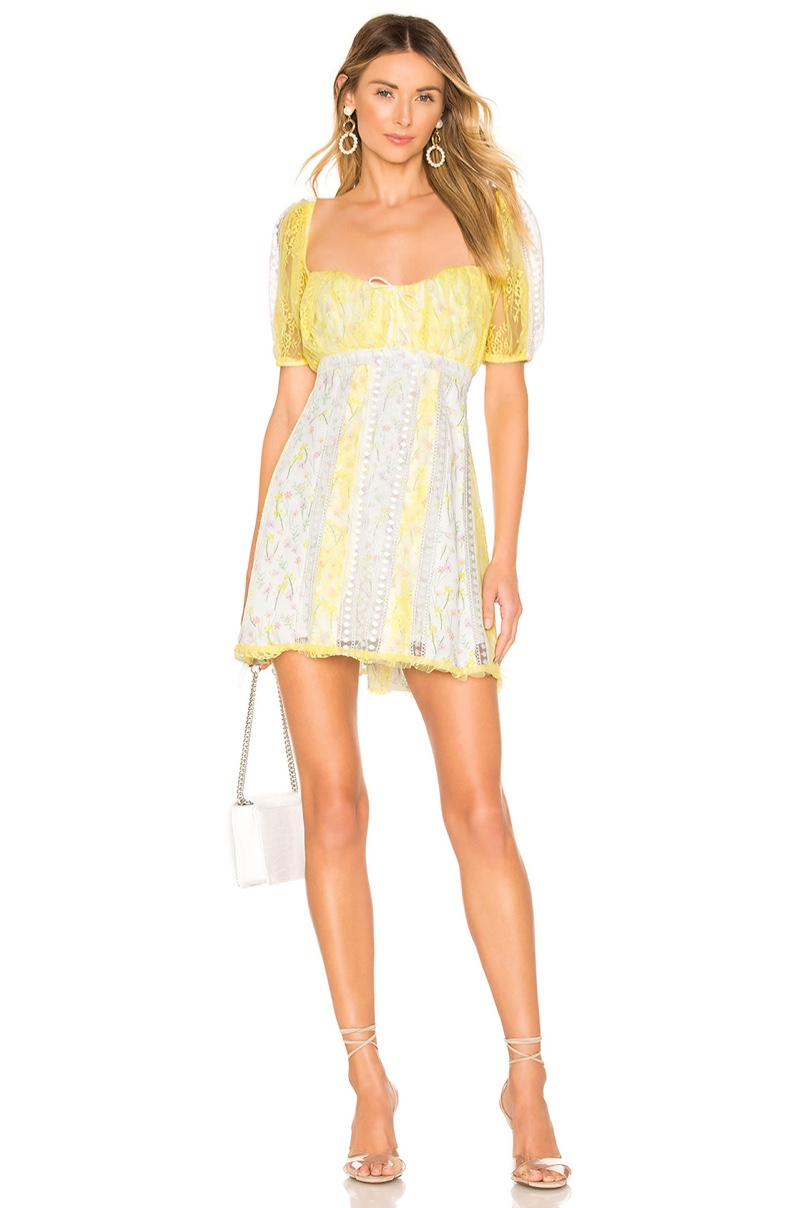For Love & Lemons Limoncella Mini Dress $312