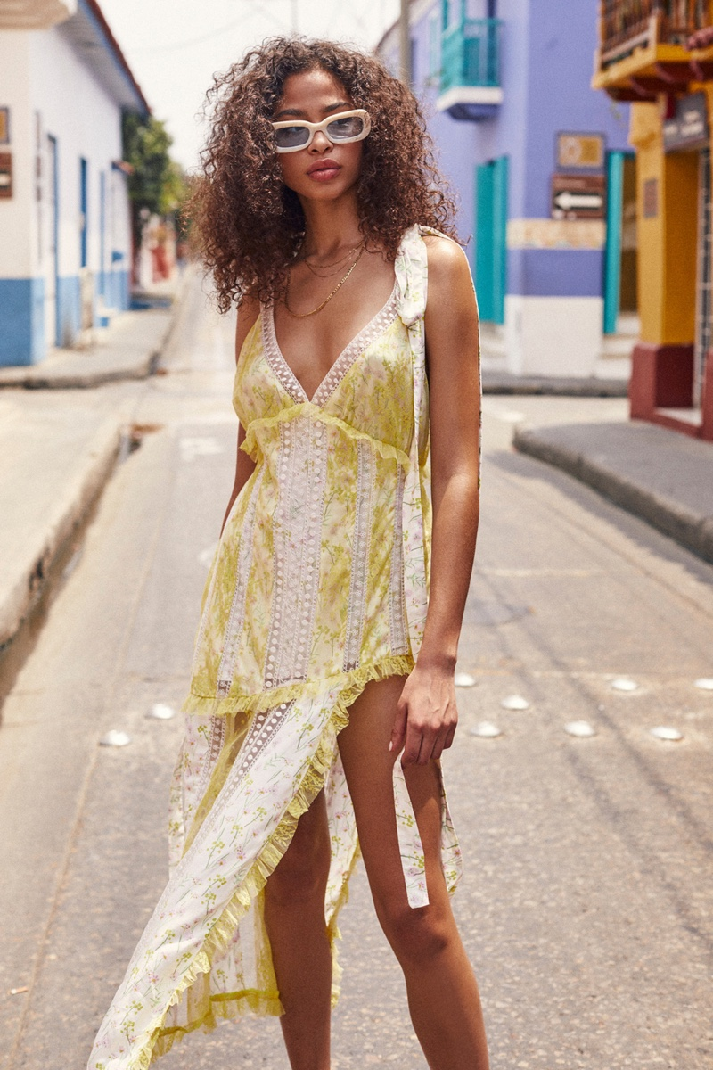Zoe Thaets stars in For Love & Lemons summer 2019 lookbook