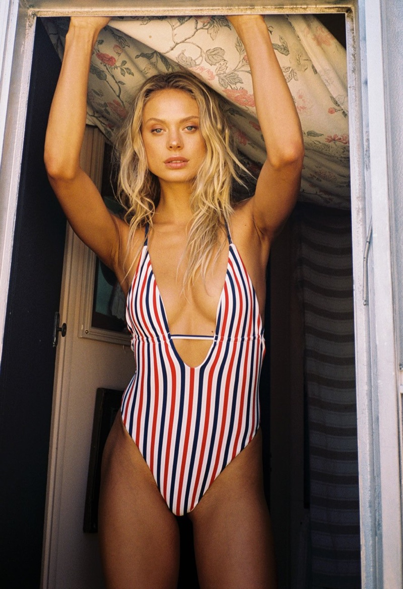 Frankies Bikinis showcases plunging necklines for Summer Camp collection