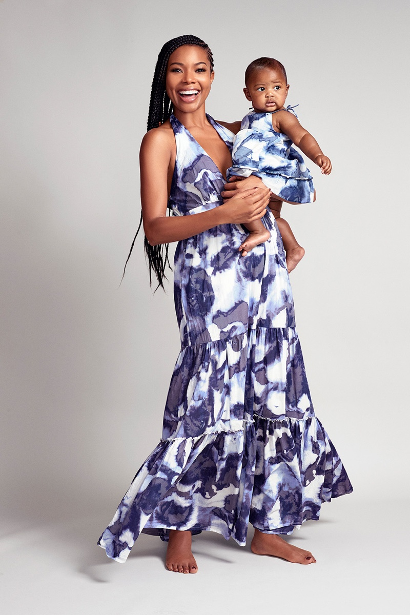 Gabrielle Union and daughter Kaavia pose in New York & Company collaboration