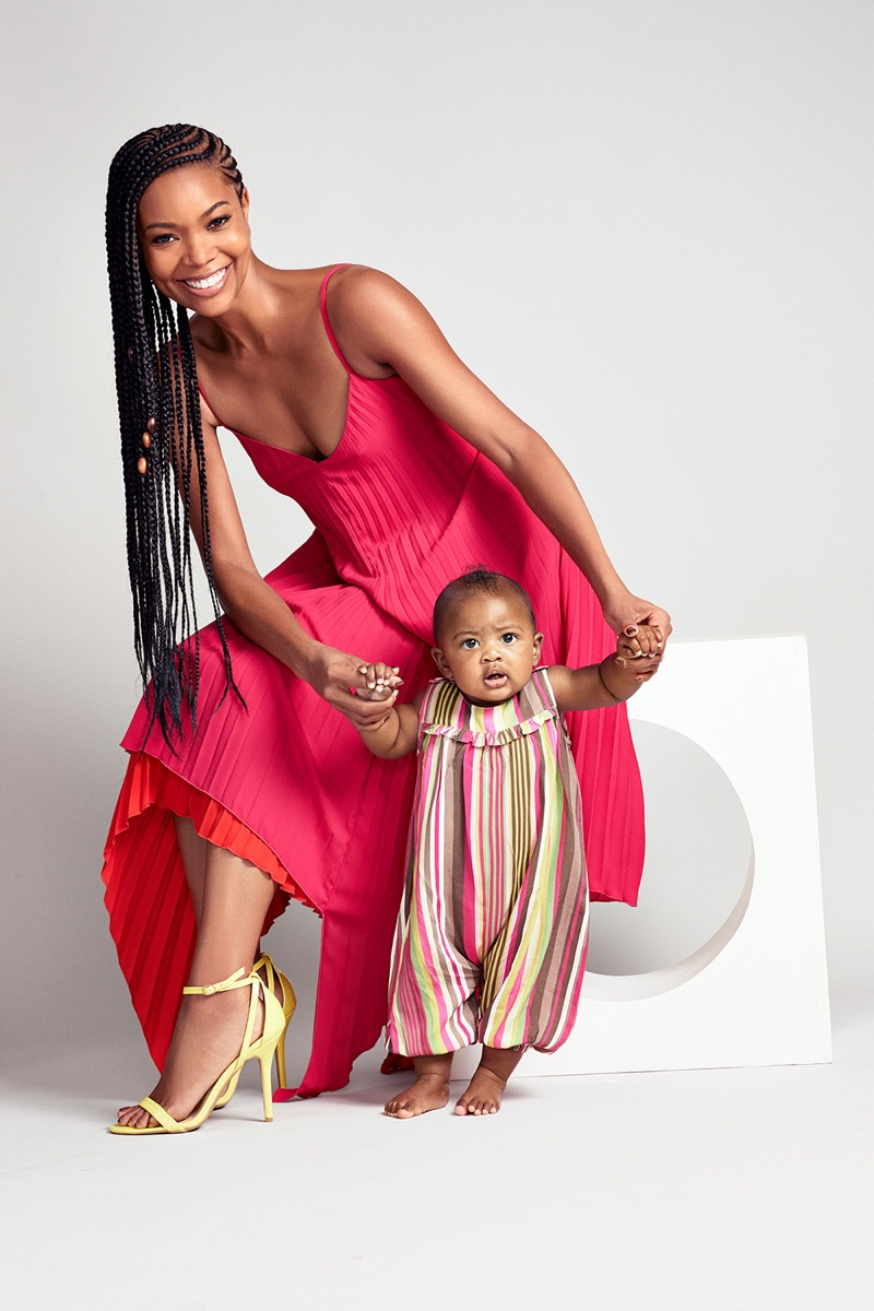 Zoe Adlersberg photographs Gabrielle Union and Kaavia James in New York & Company campaign