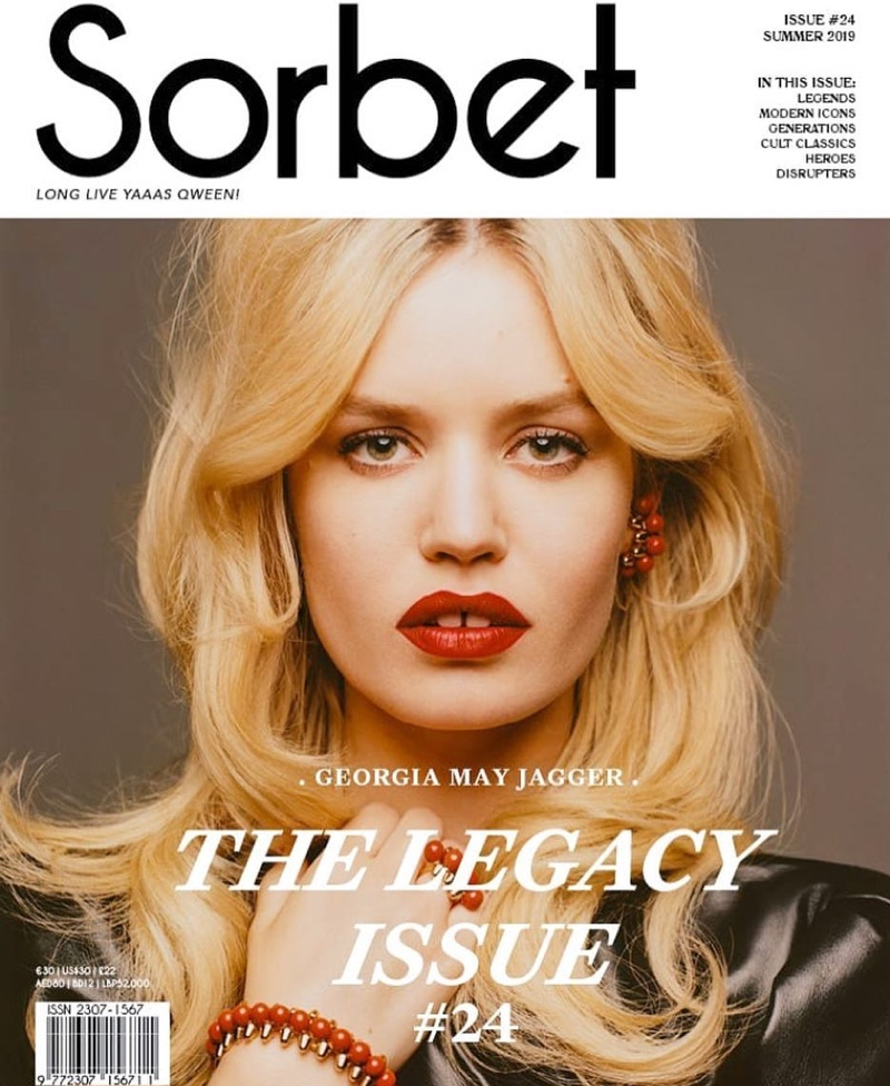 Georgia May Jagger Turns Up the Glam Factor for Sorbet Magazine