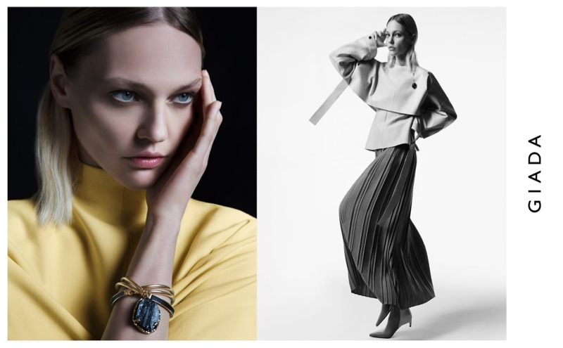 Sasha Pivovarova stars in Giada fall-winter 2019 campaign
