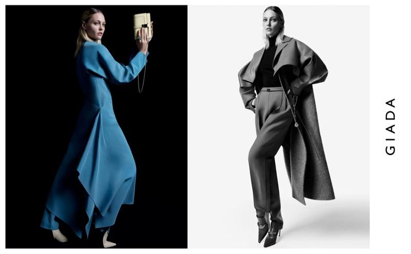Model Sasha Pivovarova appears in Giada fall-winter 2019 campaign