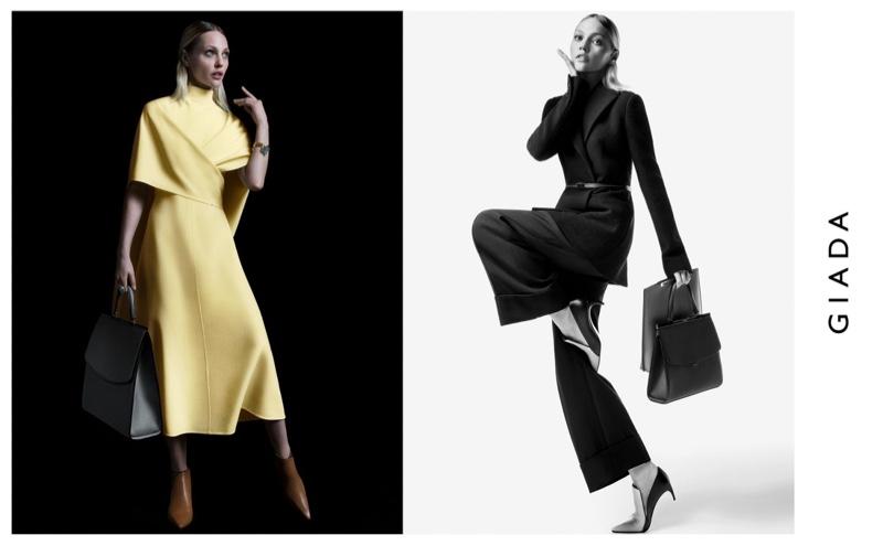 Model Sasha Pivovarova wears chic looks for Giada fall-winter 2019 campaign
