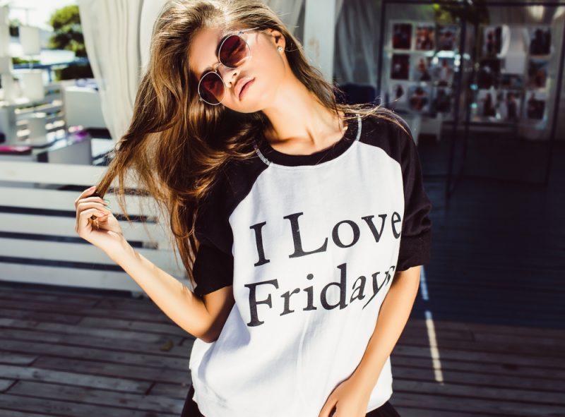 Girl I Love Fridays Tee
