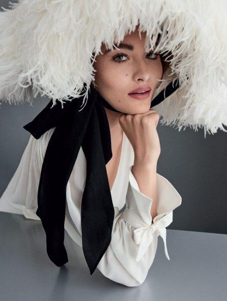 Grace Elizabeth Models Retro Glam Styles for Vogue Brazil
