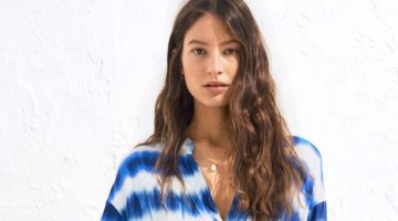 H&M Kaftan Dress in tie-Dye Print