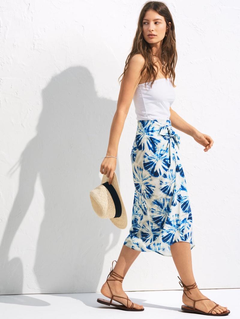 Marlene Kohrs models H&M tube top and Batik-patterned lyocell skirt