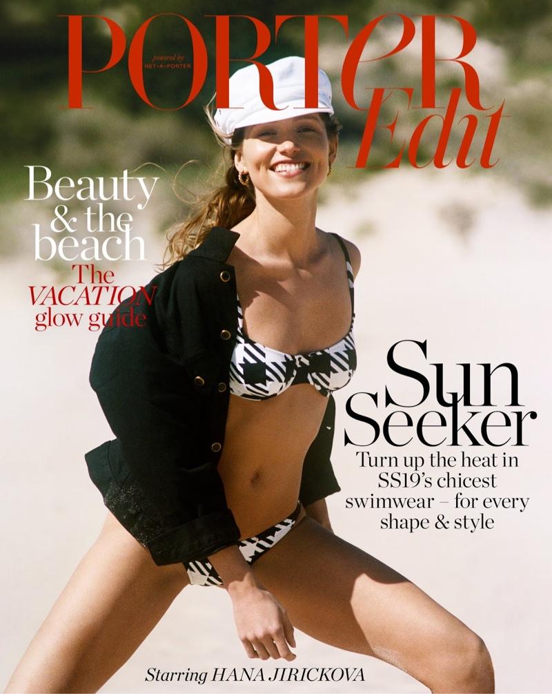 Hana Jirickova Soaks Up the Sun in Swim Style for PORTER Edit