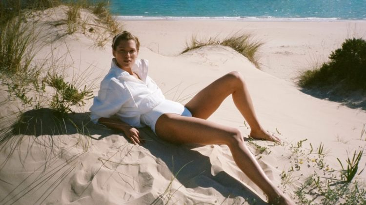 Hana Jirickova Soaks Up the Sun in Swim Style for PORTER Edit
