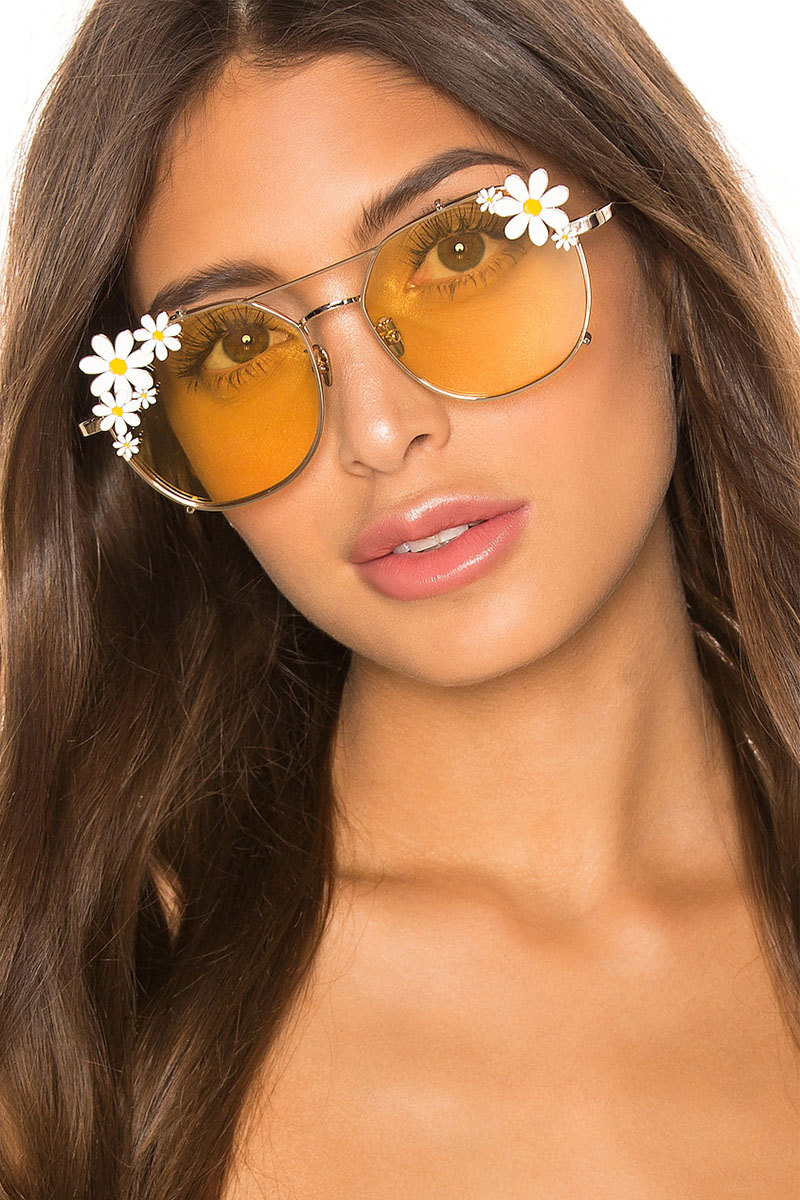 House of Harlow 1960 x REVOLVE Maggie Sunglasses in Yellow $108