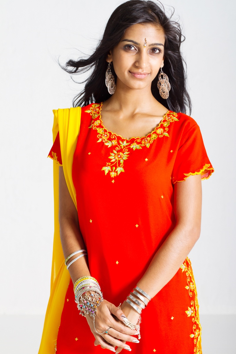 Indian Woman Embellished Tunic