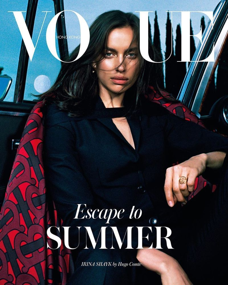 Irina Shayk Models Elegant Looks for Vogue Hong Kong