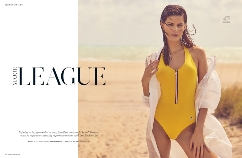 Isabeli Fontana Models Colorful Swimwear Styles for Hello! Fashion