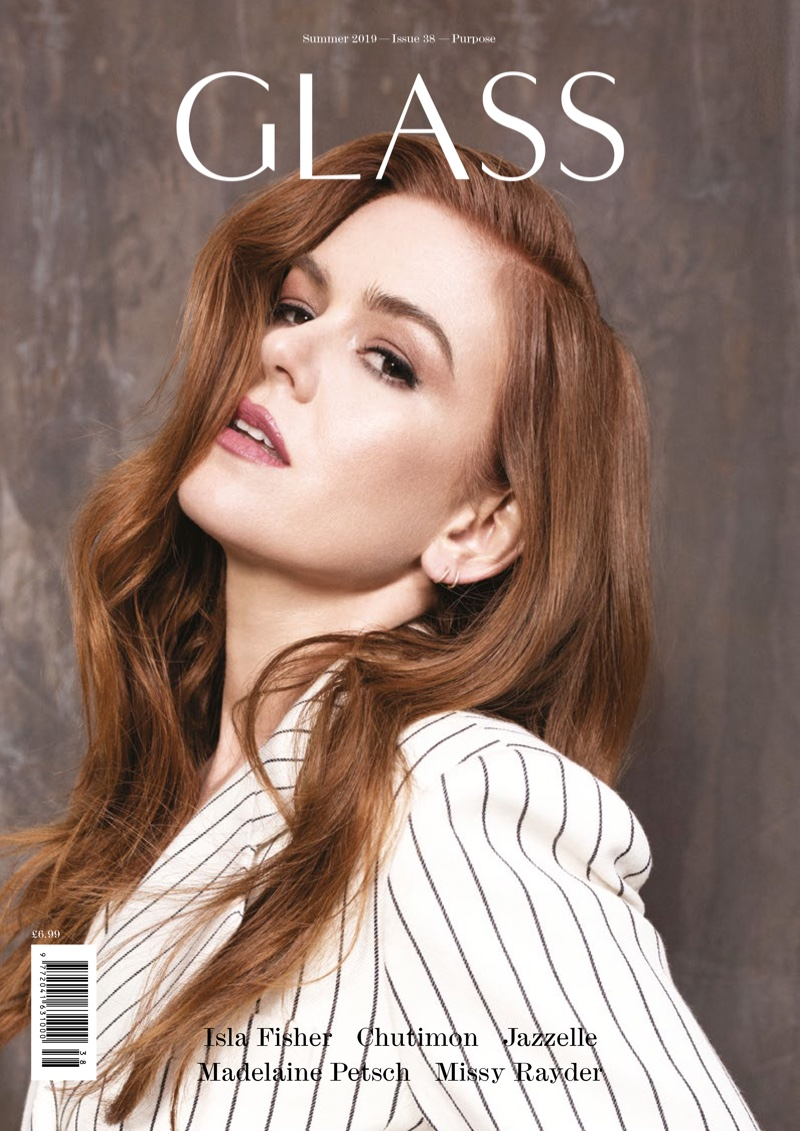 Isla Fisher on Glass Magazine Summer 2019 Cover