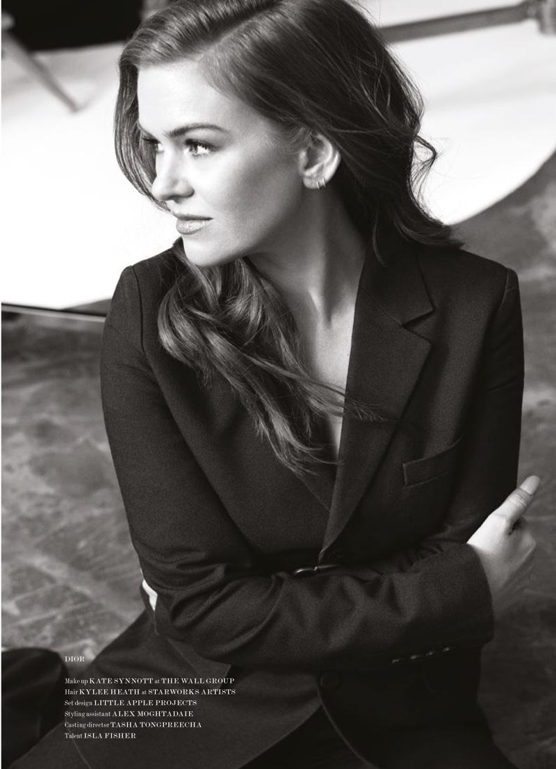 Actress Isla Fisher wears Dior look
