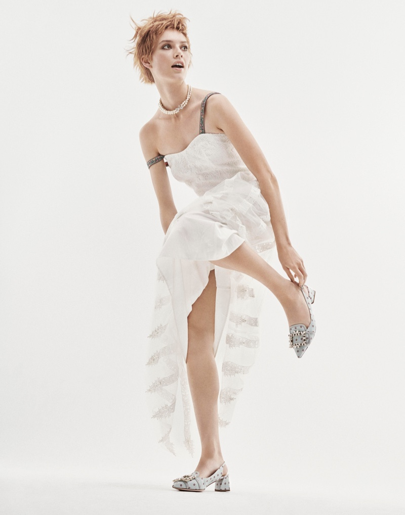 Jasmine Dwyer Poses in Whimsical Fashions for Grazia Italia