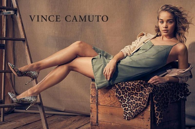 Jasmine Sanders wears pumps in Vince Camuto summer 2019 campaign