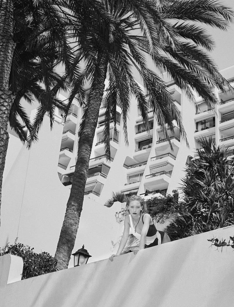 Jeske Van der Pal Poses in 1980's Beach Styles for Marie Claire Spain