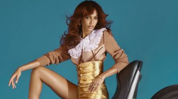 Joan Smalls Rocks Rider Fashions in Paper Magazine