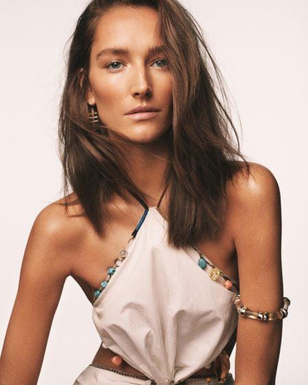 Josephine le Tutour Models Sun-Kissed Beauty for Vogue Greece