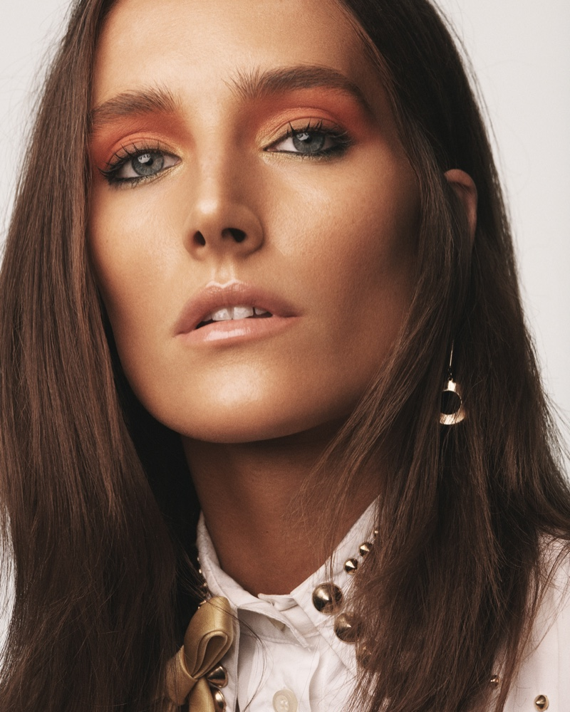 Josephine le Tutour Models Sun-Kissed Beauty for Vogue Greece