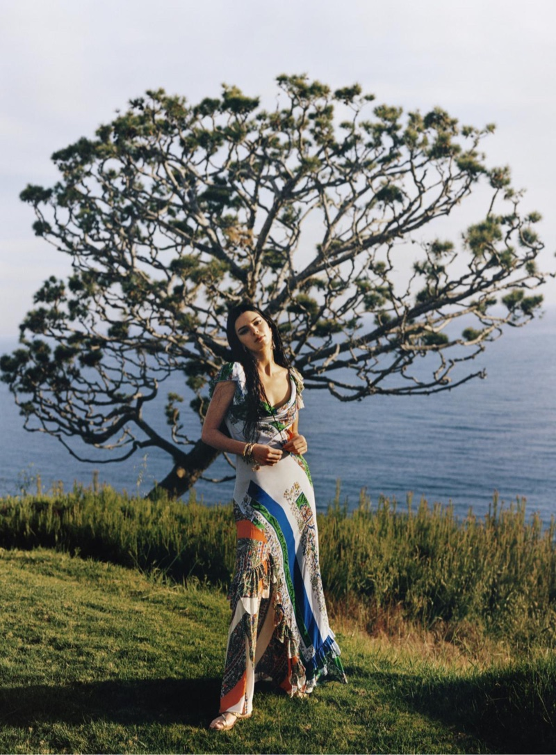 Kendall Jenner & Vittoria Ceretti Pose in Dynamic Prints for Vogue
