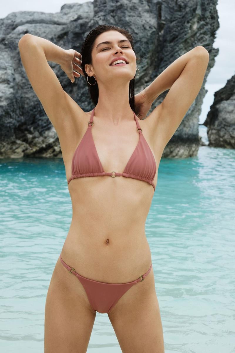 Flaunting her bikini figure, Lauren Layne poses in Lauren Layne Swim