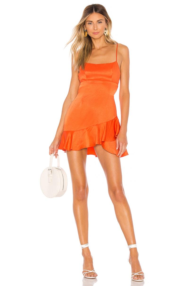 Lovers + Friends Sweetie Dress in Bright Orange $148