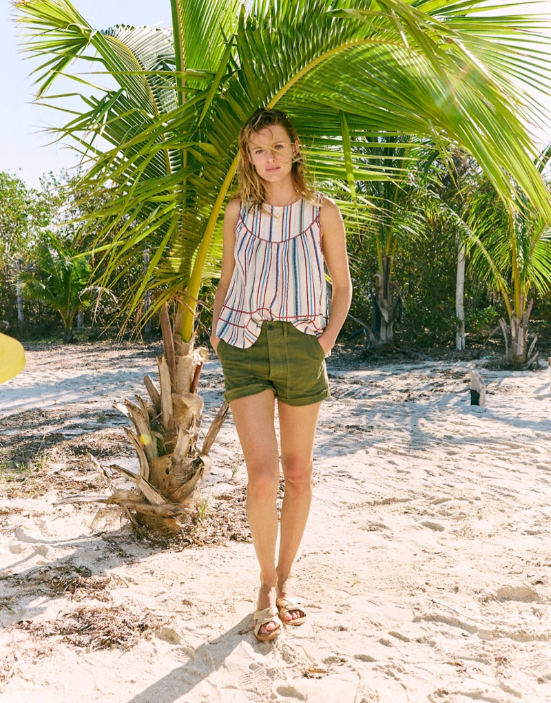 Madewell Rickrack Swing Tank $79.50 and High-Rise Cargo Shorts $72