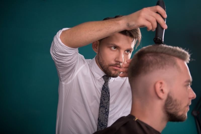 Man Hairdressing Crew Cut