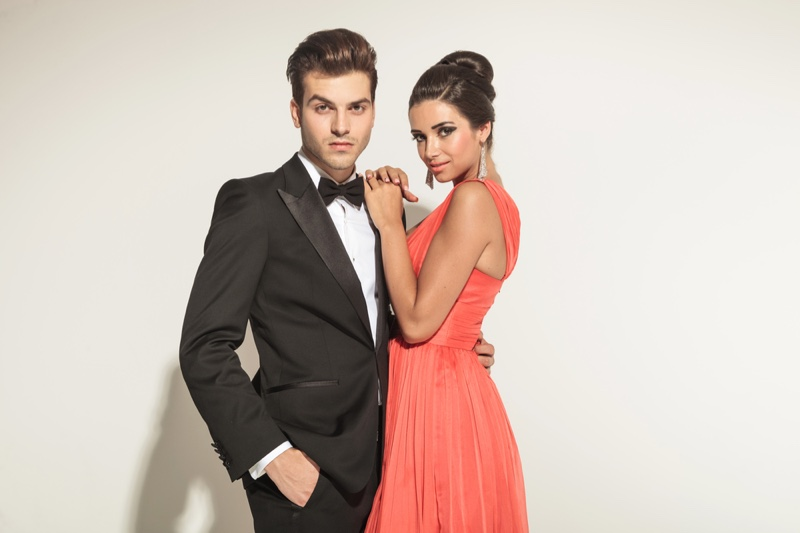 Man Tuxedo Woman Dress Models