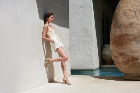 Anja Cihoric Poses Poolside for Marc Fisher Summer 2019 Campaign