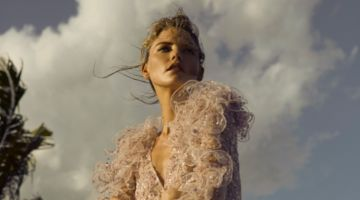 Martha Hunt Enchants in Beach Looks for Harper's Bazaar Mexico