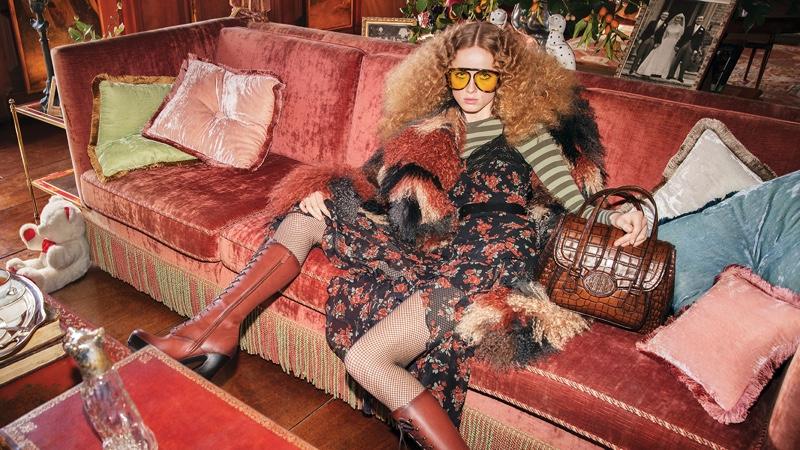 Model Rianne van Rompaey fronts Michael Kors fall-winter 2019 campaign