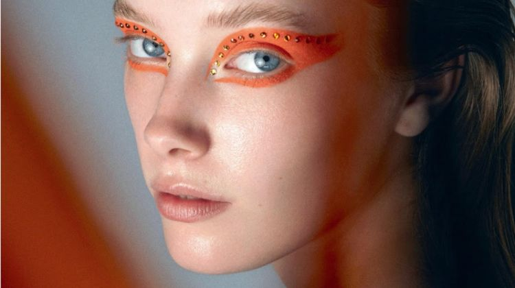 Mildred Gustafsson Models Bold Beauty Looks for Vogue Turkey