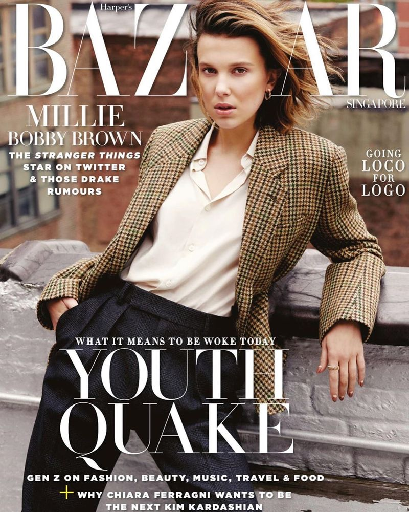 Millie Bobby Brown on Harper's Bazaar Singapore June 2019 Cover