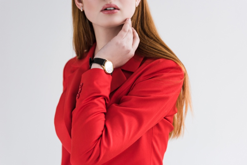 Model Watch Red Jacket