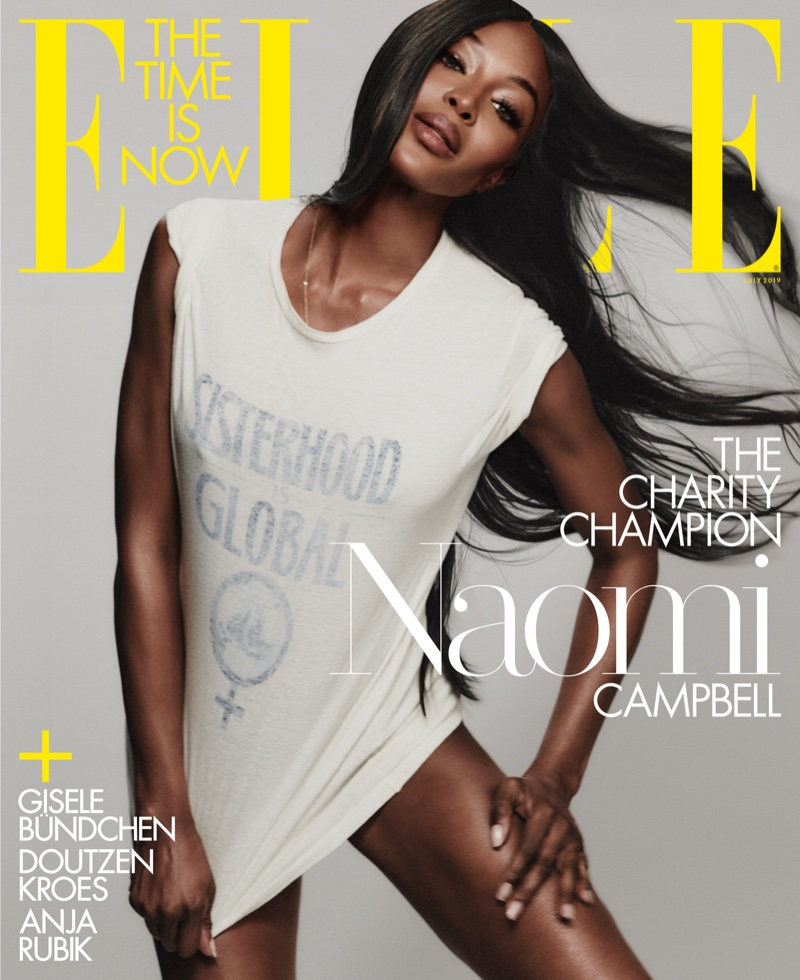 Naomi Campbell on ELLE US July 2019 Cover