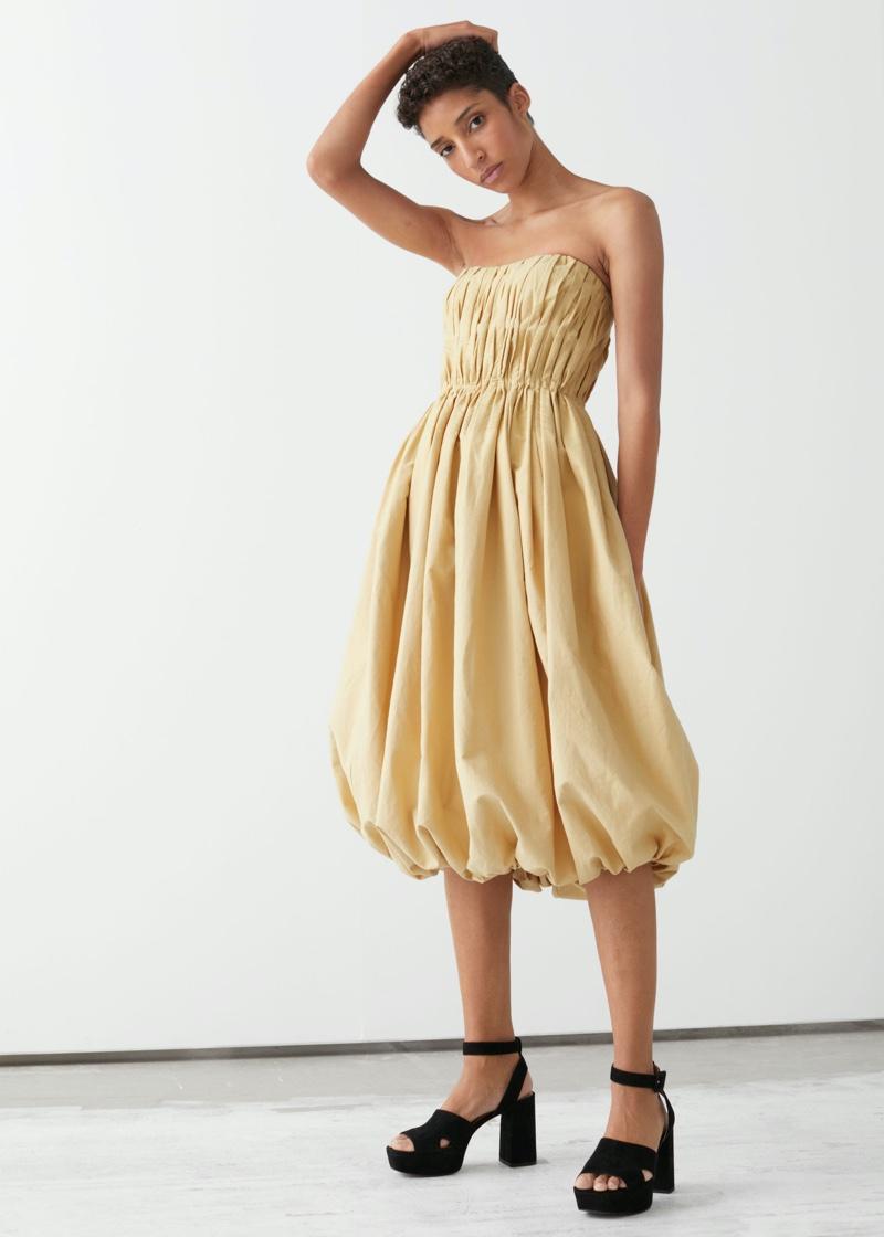 & Other Stories Bustier Balloon Mini Dress $299
