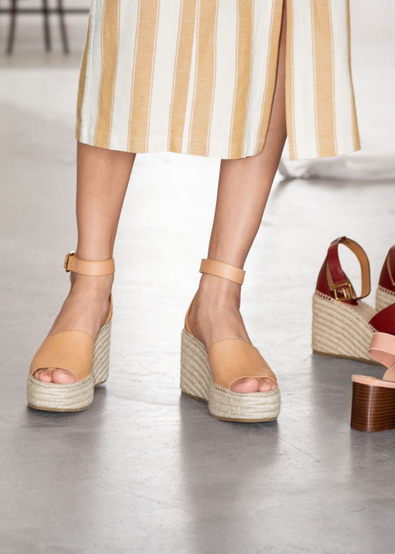 & Other Stories Espadrille Sandal Wedges $129