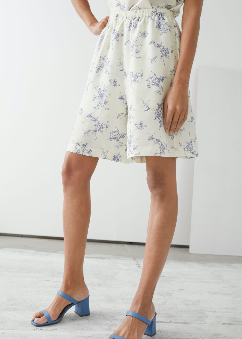 & Other Stories Relaxed Silk Shorts $119