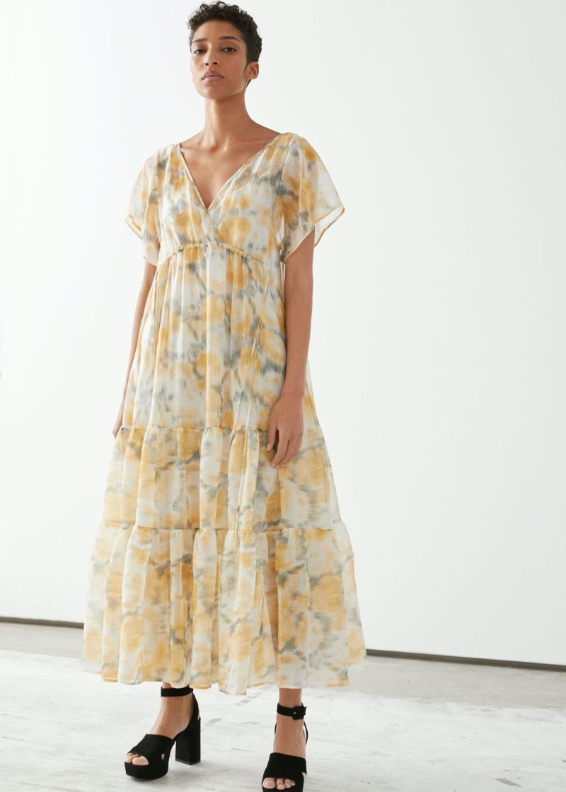& Other Stories Sheer Lyocell Blend Maxi Dress $179